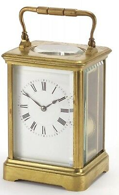 Fine Quality HENRI JACOT Chiming CARRIAGE CLOCK WITH A CORNICHE STYLE CASE
