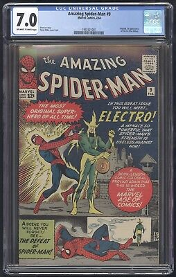 Amazing Spider-Man (1963) #9 CGC 7.0 OW/W Pages Blue Label 1st Electro Lee Ditko