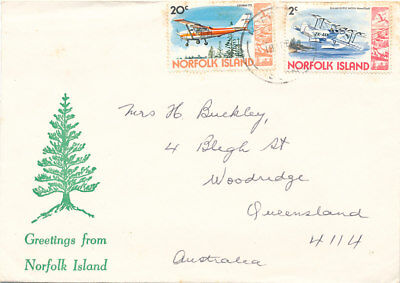 Australian Stamps. NORFOLK ISLAND COVER. PU 1980. AIRCRAFT STAMP.S
