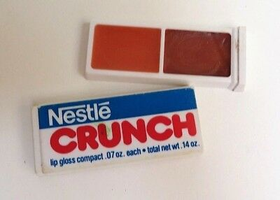 Avon Novelty Accessories NESTLE CRUNCH Lip Gloss Compact 1980 RARE