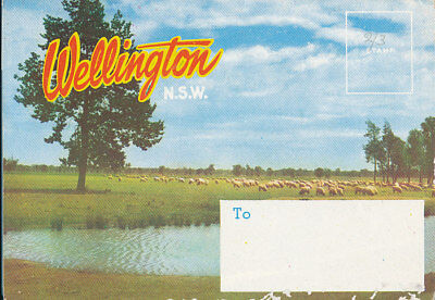 WELLINGTON NSW.  VIEW FOLDER with  TEN VIEWS.  C 1960'.