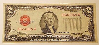 1928 D  Two Dollar Red Seal United States Note....  Combine Shipping