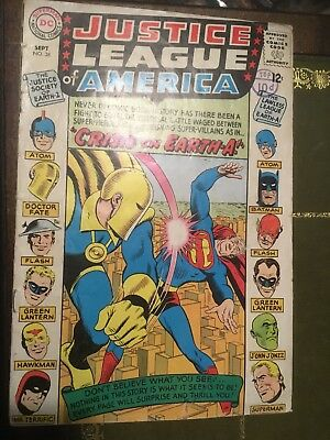 1965 Early No.38Justice League Of America :Sept. D C Comic Mid Run.12c