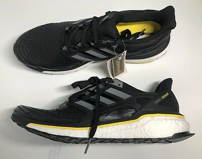 the latest 2dab4 a73b1 New Adidas Energy Boost Mens Running Shoes Black White CQ1762 Size 11