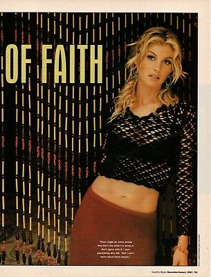 Faith Hill 5 Page 2001 Magazine Article Clipping 12 Pictures Country Music