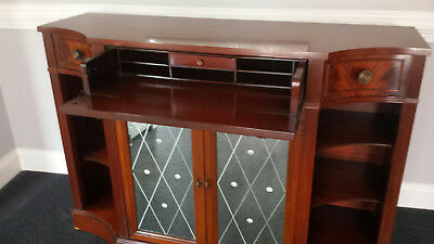 Mahogany buffet, credenza, sideboard, mirror front, pull out desk