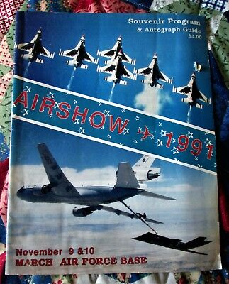 1991 March Air Force Base, CA. Official Air Show Program