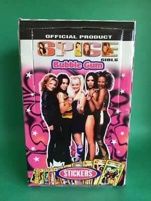 SPICE GIRLS 90s Case GUM Box of 24 Chupa Chups Stickers Ginger Posh Lollipops