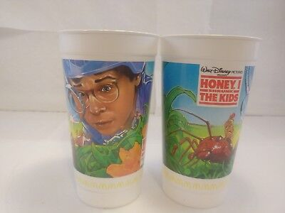 2 HONEY I SHRUNK THE KIDS Vintage 1988 Cups McDonald's Coca-Cola Disney