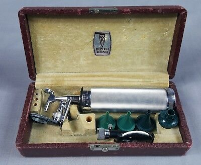 Vintage 1935 Allyn Welch Otoscope Ophthalmoscope Diagnostic Ear Scope w/ Box