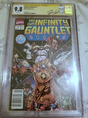 Infinity Gauntlet #1 Newsstand Edition CGC 9.8 SS STAN LEE SIGNED