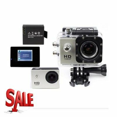 Waterproof Full HD 1080P 12MP Car Cam Sports Action Camera DV Camcorder Silver V