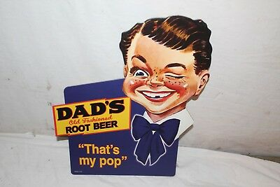 "Vintage Dad's Root Beer Soda Pop Bottle Topper 12"" Sign~Nice"