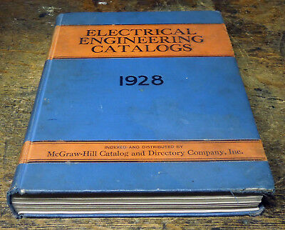 Antique Vintage McGraw Hill Electrical Engineering Catalogs for 1928