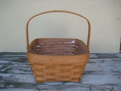 Longaberger 1991 Berry (?) Basket with Protector Good Used