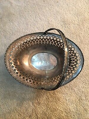 Sterling Silver Serving Bowl Dish 1245 L Signature Basket