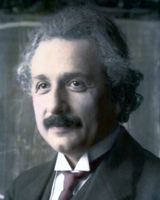 "Albert Einstein German Physicist Scientist 1921 8X10"" Hand Color Tinted Photo"