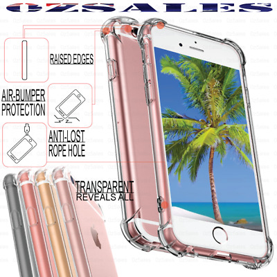 iPhone XS MAX XR X 8 7 Plus 6s Shockproof Bumper Back Case Cover Ultra Clear