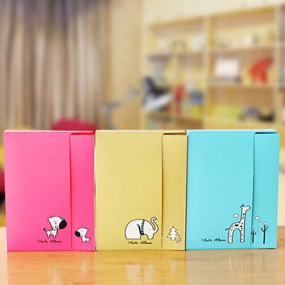 KD_ Creative Cartoon Animal 20Pages Interstitial DIY Photo Album Collection Gi