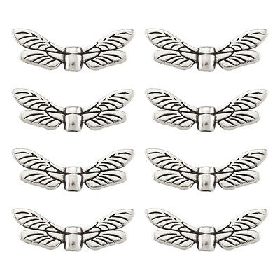 Wholesale W09 Metal Beads  Dragonfly Wing 22mm x8mm
