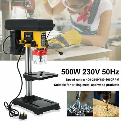HQ&NEW 500w Pillar Drill Press Bench & Table Top Mounted Drilling 3-16mm  STOC