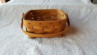 Longaberger Small Berry Basket w/ Hinged Handle 1993