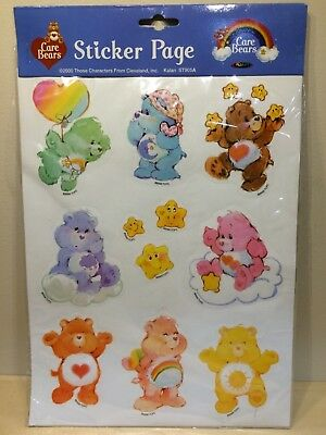 CARE BEARS Sticker Page NEW IN PACKAGING 2000 Those Characters From Cleveland