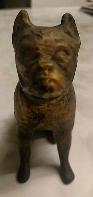 Vintage Boston Terrier/Boxer cast iron door stop paperweight collectible dog