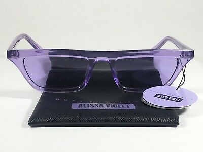 3b2567b8f8e29 Quay Finesse Sunglasses Alissa Violet Small Square Purple Clear Frame and  Lens