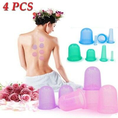 Silicone Massage Vacuum Body Facial Cups Set Anti Cellulite Cupping Cup 4Pcs/Set