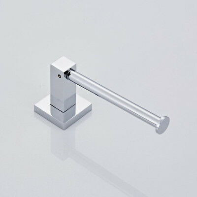 New Modern Bathroom Toilet Roll Holder In Chrome Wall Mounted Square Design