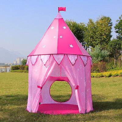 Pop UP Play Tent Princess Castle Playhouse Baby Kids Girl Toys Christmas Gift