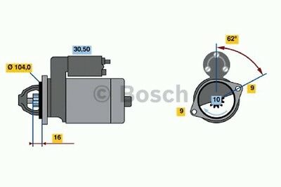 Bosch Starter Motor BXF456 fits Ford Territory 4.0 (SX,SY), 4.0 AWD (SX,SY), ...