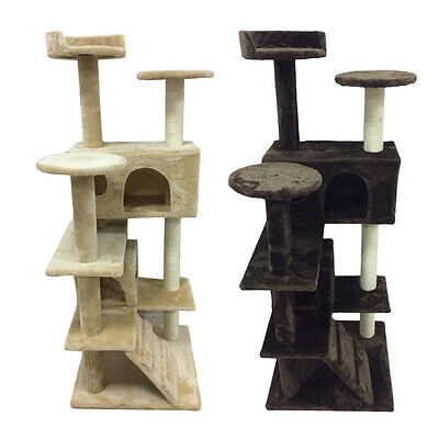 New Cat Tree Activity Centre Scratcher Scratching Post Pet Toys Play 73-180cm