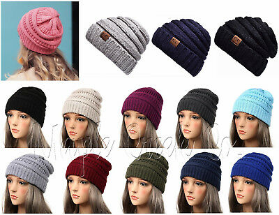 Women's CC Beanie Cap. Chic and Stylish Hat. Choose Color. One Size Fits Most.