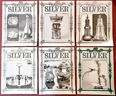 1972 Silver Magazine 6 Original Issues (Full Year) Great Reference-Free Shipping