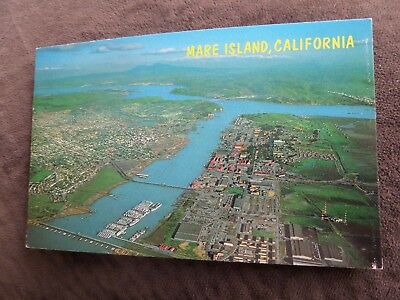 Mare Island, Ca  Beautiful Aerial View Navy Yard And Vallejo