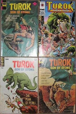 Turok Son of Stone #63, 91, 95 and 1993 #2 lot of 4 comics that ship for free