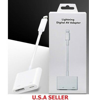Lightning to HDMI Digital AV TV Adapter Cable For iPhone 6 7 8 X XS Plus iPads