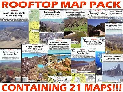 Rooftop's Adventure Map Pack - 21 Maps Included - Binder - Roads Detailed Routes