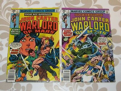 John Carter Warlord of Mars #5 with #9 lot of 2 comics, VF+, Rudy Nebres art