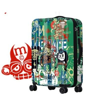 D317 Hip-Hop Style Universal Wheel ABS+PC Travel Suitcase Luggage 20 Inches W