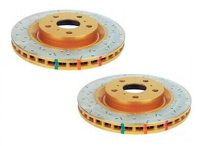 DBA HD Brake Rotor Pair Drilled Slotted DBA4014XS fits Holden H Series HJ 2.8...