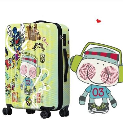D375 Lock Universal Wheel Multicolor Pattern Travel Suitcase Luggage 24 Inches W