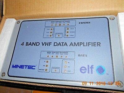 Minetec Elf Vhf Data Amplifier  4 Band New In Factory Box Leaky Feeder