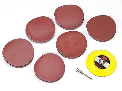 62pcs 75mm Sanding Sander Backing Pad Dremel Rotary Drill Sandpaper Disc Tool
