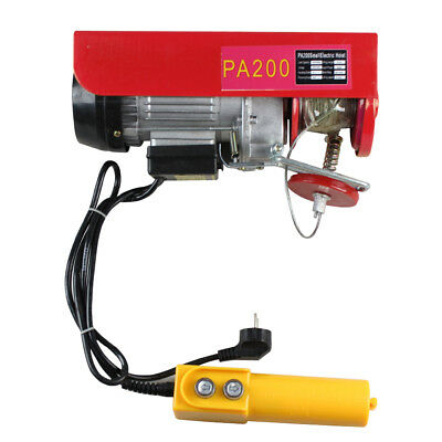 1450W 800KG Electric Hoist Winch Lifting Engine Crane Workshop Heavy Duty Cable
