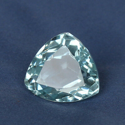 20.00 Ct Natural Aquamarine Greenish Blue Color Trillion Cut Loose Certified Gem