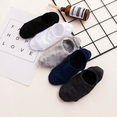 5/10Pairs Men Invisible Nonslip Boat Ankle Socks Low Cotton Sock Boy Gift supply