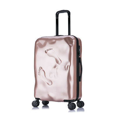 D935 Rose Gold Coded Lock Universal Wheel Travel Suitcase Luggage 20 Inches W